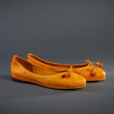 Damen Ballerina, orange von Pantofola d´Oro