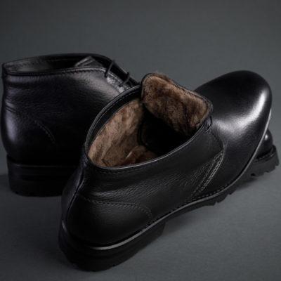 Benson´s Boots, schwarzes Kalbsleder mit Innenfutter