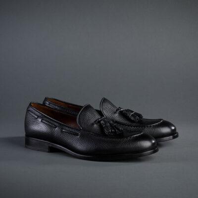 Fratelli Rosetti Tassel Loafer aus schwarzem Hirschleder
