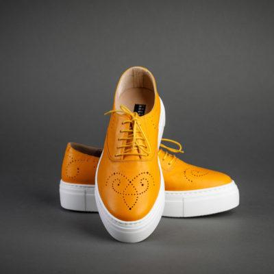 Damen Sneaker von Fratelli Rosetti, gelb