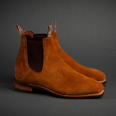 R.M.Williams Herren Boot, Velours maroon